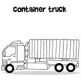 Tiraggio della mano del camion del contenitore illustrazione vettoriale
