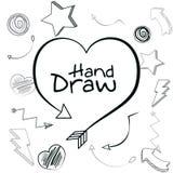 Tiraggio della mano del cuore royalty illustrazione gratis