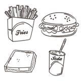 Tiraggio della mano del pasto dell'alimento Fotografia Stock Libera da Diritti