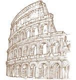 Tiraggio della mano di Colosseum Fotografia Stock