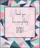 Tiraggio della mano per la carta di giorno del padre s Illustrazione di vettore Immagini Stock
