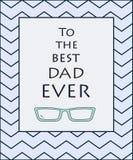 Tiraggio della mano per la carta di giorno del padre s Illustrazione di vettore Immagine Stock