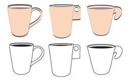 Tiraggio della tazza di caffè Fotografie Stock Libere da Diritti