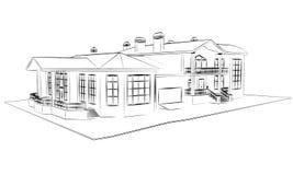 tiraggio di architettura tecnico illustrazione vettoriale