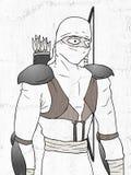Tiraggio di Ninja illustrazione vettoriale