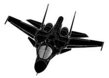Tiraggio di vettore degli aerei di bombardiere russi moderni illustrazione vettoriale