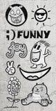 Tiraggio divertente degli elementi royalty illustrazione gratis