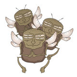 Tiraggio divertente della mosca royalty illustrazione gratis