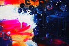 tiraggio grigio bianco rosa blu della pittura di tiraggio della pittura di acrilici del fondo di struttura di colore della cascat immagine stock libera da diritti