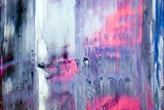 tiraggio grigio bianco rosa blu della pittura di tiraggio della pittura di acrilici del fondo di struttura di colore della cascat fotografia stock libera da diritti