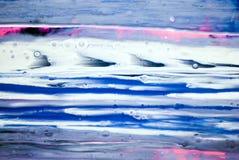 tiraggio grigio bianco rosa blu della pittura di tiraggio della pittura di acrilici del fondo di struttura di colore della cascat immagini stock libere da diritti