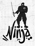 Tiraggio nero di ninja illustrazione vettoriale