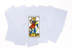 Tiraggio opaco della carta di tarocchi immagini stock libere da diritti