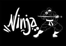 Tiraggio scuro di ninja Immagine Stock