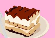 Tiramisù Italiaans dessert vector illustratie