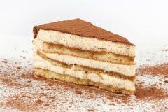 Tiramisu. Sweet tiramisu dessert close up Royalty Free Stock Images
