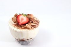 Tiramisu with amaretto in glass Stock Photos