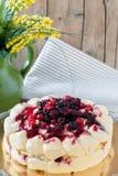 Tiramisu With Berries Closeup Royalty Free Stock Photography