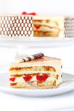 Tiramisu birthday cake Stock Photography