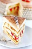 Tiramisu birthday cake Royalty Free Stock Image