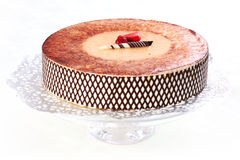 Tiramisu birthday cake Stock Photo