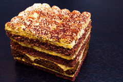 Tiramisu black background Royalty Free Stock Image