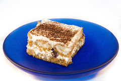 Tiramisu with blueberries Royalty Free Stock Photo
