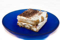 Tiramisu with blueberries Stock Image