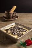 Tiramisu - bolo italiano típico Imagens de Stock