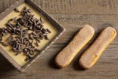 Tiramisu - bolo italiano típico Imagem de Stock