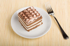 Tiramisu cake Arkivfoton