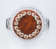 Tiramisu cake  as Cut Royalty Free Stock Images