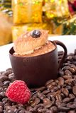 Tiramisu cake in chocolate cup Royalty Free Stock Images
