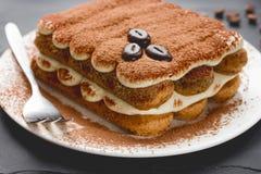Tiramisu cake close-up Royalty Free Stock Photography