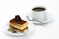 Tiramisu cake and coffee Royalty Free Stock Image