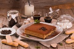 Tiramisu cake. stock photography