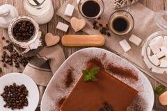 Tiramisu cake. stock photo