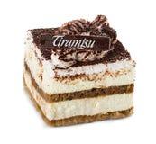 Tiramisu cake isolated on white Royalty Free Stock Images