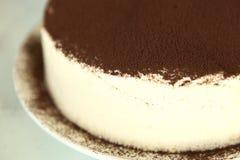 Tiramisu cake. The meaning is pick me up stock image