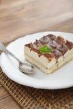 Tiramisu cake with mint Stock Image
