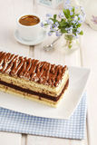 Tiramisu cake at the party table. Stock Images