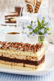 Tiramisu cake at the party table Stock Photo