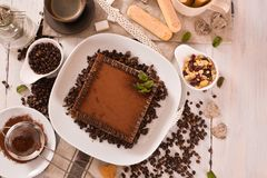 Tiramisu cake. stock photography