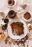 Tiramisu cake. royalty free stock image