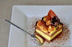 Tiramisu cake (stycket) Royaltyfri Foto