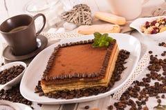 Tiramisu cake. royalty free stock photos