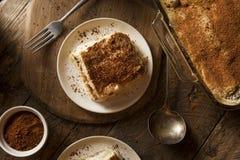 Tiramisu caseiro para a sobremesa Fotografia de Stock Royalty Free