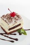 Tiramisu with cherries Stock Images