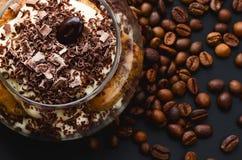 Tiramisu with chocolate Stock Image