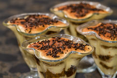 Tiramisu with chocolate Stock Images